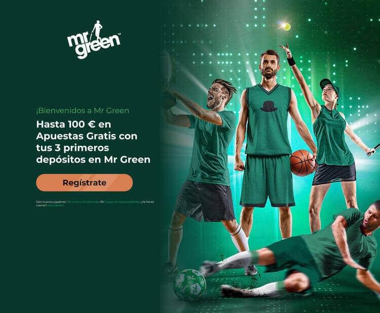 100€ apuestas gratis bono Mr Green España
