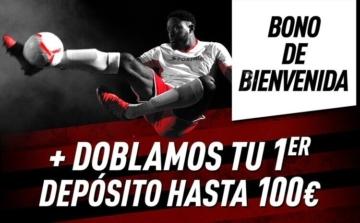 Bono de bienvenida hasta 100€ en Sportium doblan tu primer depósito