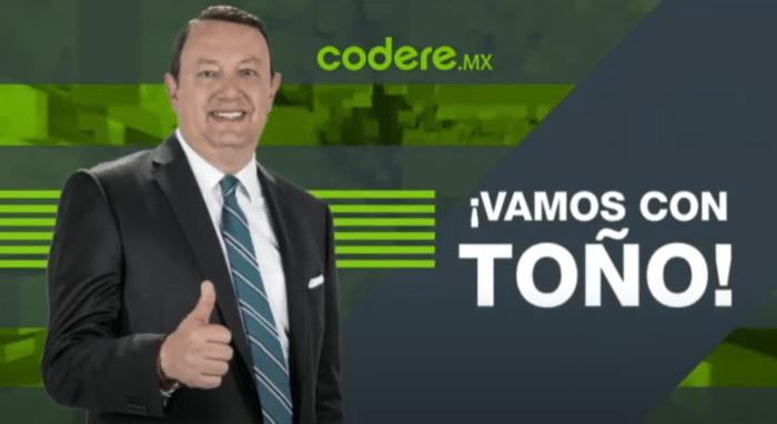 codere tiene un canal de youtube con el periodista deportivo mexicano Toño