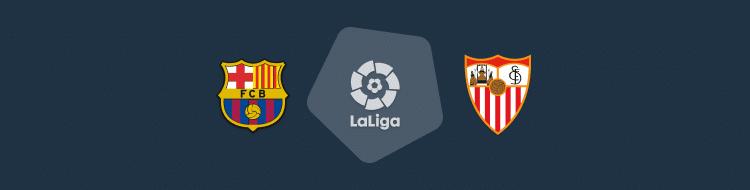 Cabecera del partido FC Barcelona vs Sevilla de LaLiga 2020/21
