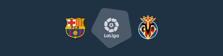 Cabecera del partido Barcelona vs Villarreal de LaLiga 2020/21