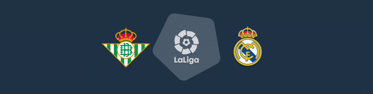 Cabecera del partido Betis vs Real Madrid de LaLiga 2020/21