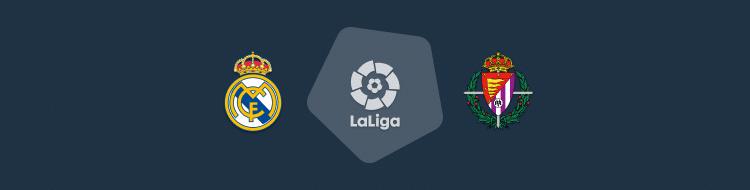 Cabecera del partido Real Madrid vs Valladolid de LaLiga 2020/21