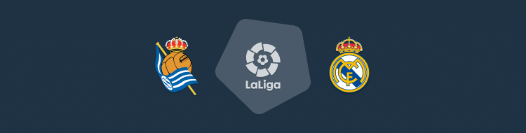 Cabecera del partido Real Sociedad vs Real Madrid de LaLiga 2020/21