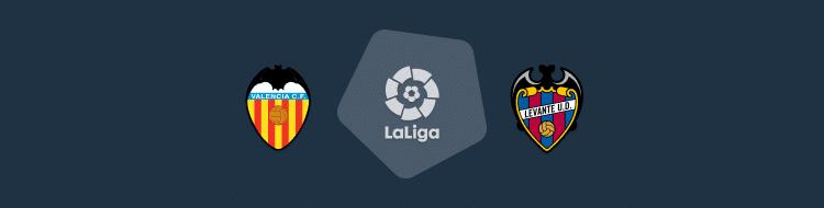Cabecera del partido Valencia vs Levante de LaLiga 2020/21