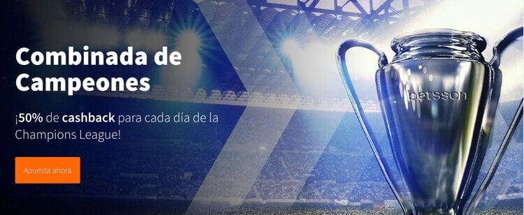 Promoción Combinadas Champions League en betsson