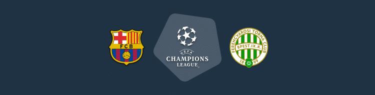 Cabecera del Barcelona vs Ferencvaros de la Champions 2020/21