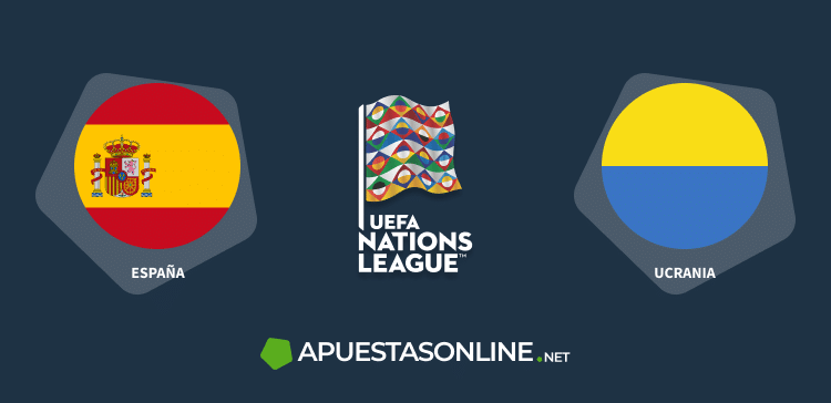 Ucraina, españa banderas, uefa nations league logo