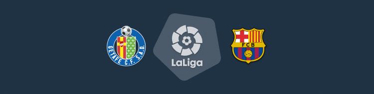 Cabecera del partido Getafe vs Barcelona de LaLiga 2020/21