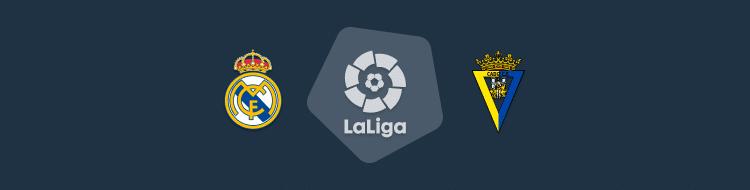 Cabecera del partido Real Madrid vs Cádiz de LaLiga 2020/21