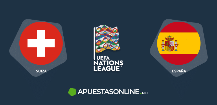 banderas suiza, españa, logo uefa nations league