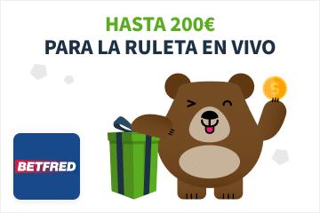 betfred bono ruleta en vivo 200 euros beto
