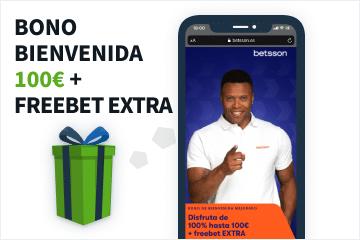 betsson bono de bienvenida deportes 100 euros y freebet extra