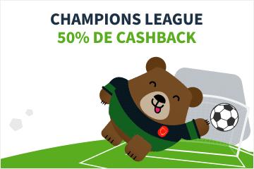 betsson Cbackhampions League 50% cash