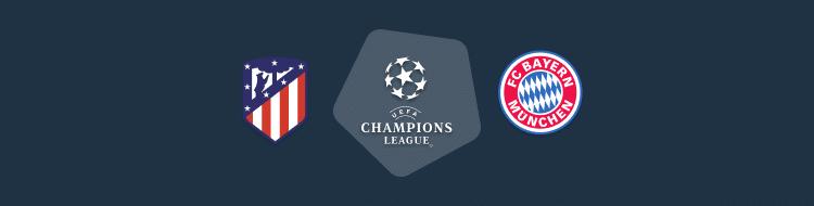 Cabecera del Atlético vs FC Bayern de la Champions 2020