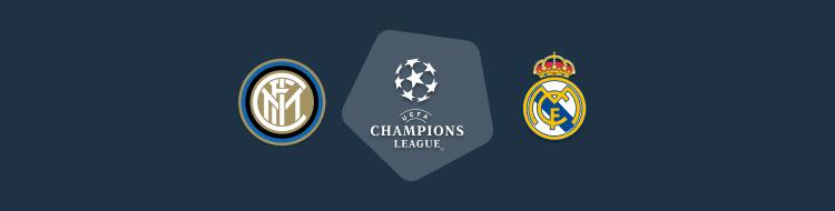 Cabecera del Inter vs Real Madrid de la Champions 25 Nov 2020