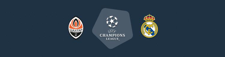 Cabecera del Shakhtar vs Real Madrid de la Champions 2020