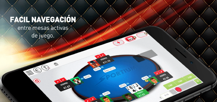 Sportium captura de la interfaz de poker