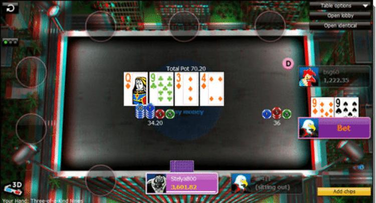 888poker captura de la interfaz de poker