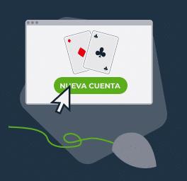 Crea una cuenta de poker en tu sala preferida
