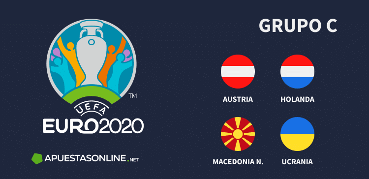 Grupo C EURO2020: Austria, Holanda, Macedonia del Norte, Ucrania
